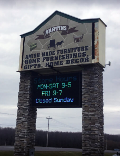 The Martin's Amish sign out front